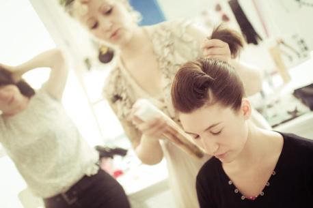 atelier de coiffure rétro