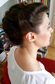 vintage hair chignon mariage rétro